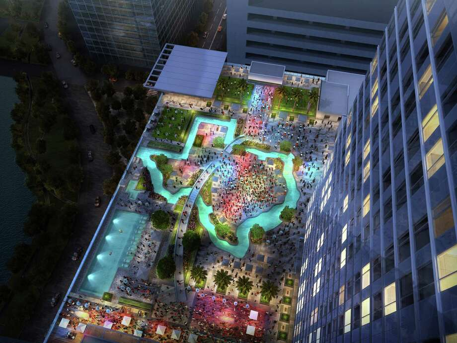 High Dive, a rooftop bar and grill on the new Marriott Marquis' sixth floor, will be near the hotel's Texas-shaped lazy river. Photo: Marriott Marquis Houston