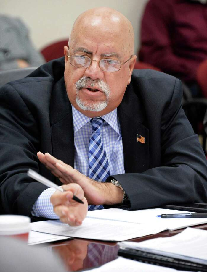 Commission member Joseph Covello speaks during a meeting of the New York State Joint Commission on Public Ethics meets Tuesday, Nov. 17, 2015, in Albany, N.Y.  (John Carl D'Annibale / Times Union archive) Photo: John Carl D'Annibale / 10033655A