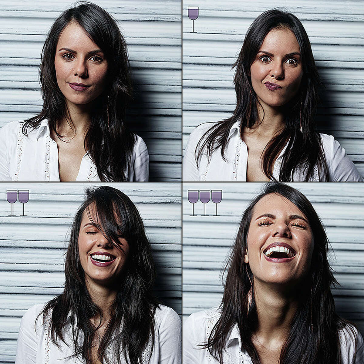Brazilian photographer Marcos Alberti captured these images to show how people's appearances change as they drink wine.