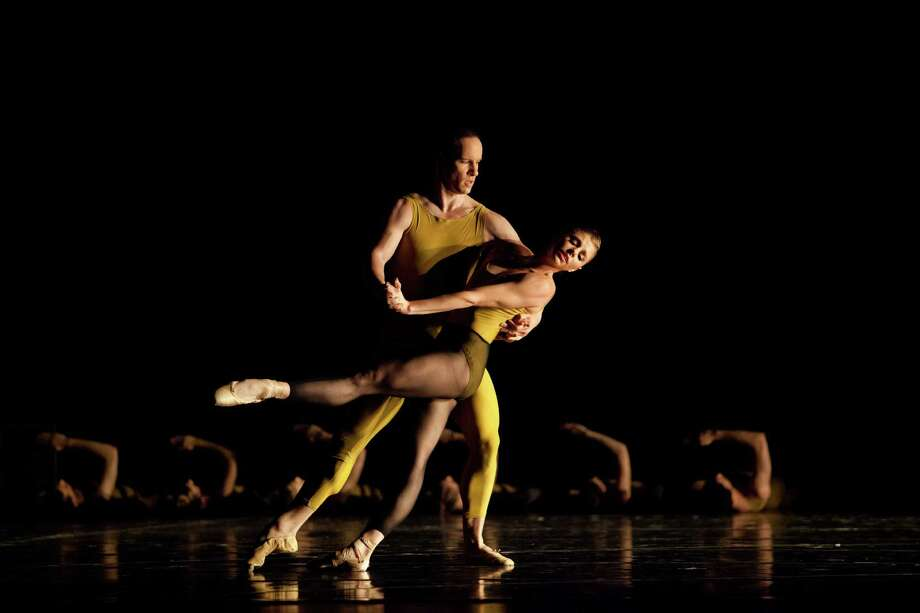 """Houston Ballet's 2016-17 season opens Sept. 8 with a mixed-rep program that includes the company premiere of """"Artifact Suite,"""" shown here with artists of Pennsylvania Ballet. Photo: Alexander Iziliaev / Alexander Iziliaev info@arantxaochoa.com"""