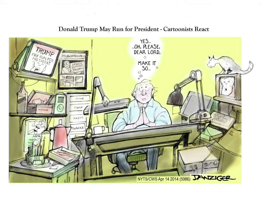 Donald Trump, 2016 Campaign, cartoonists, political cartoon Photo: JEFF DANZIGER / c Jeff Danziger 2014