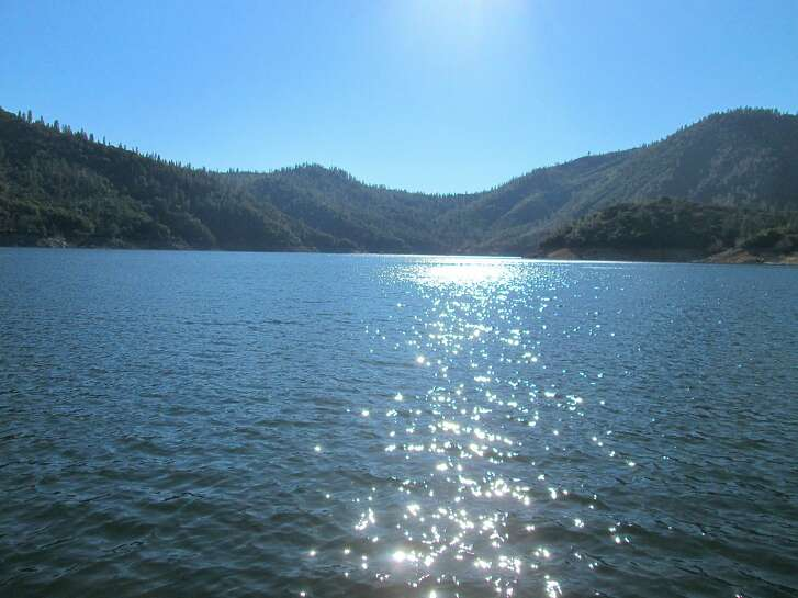 Lake Oroville, 28 percent full in December, hit 91 percent full this week and is shimmering in the afternoon sun with miles of fresh water. It is one of dozens of lakes that have rose up to fill, or close to it, to provide excellent recreation opportunities for the coming year.