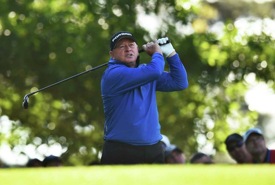 Wales's Ian Woosnam tees off on the 3rd hole during Round 2 of the 80th Masters Golf Tournament at the Augusta National Golf Club on April 8, 2016, in Augusta, Georgia. / AFP PHOTO / Jim WatsonJIM WATSON/AFP/Getty Images Photo: JIM WATSON, Staff / AFP or licensors