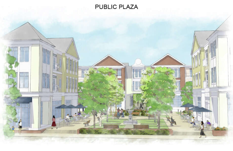 One view of the proposed redesign for the Noroton Heights Shopping Center. Photo: Contributed Photo / Darien News
