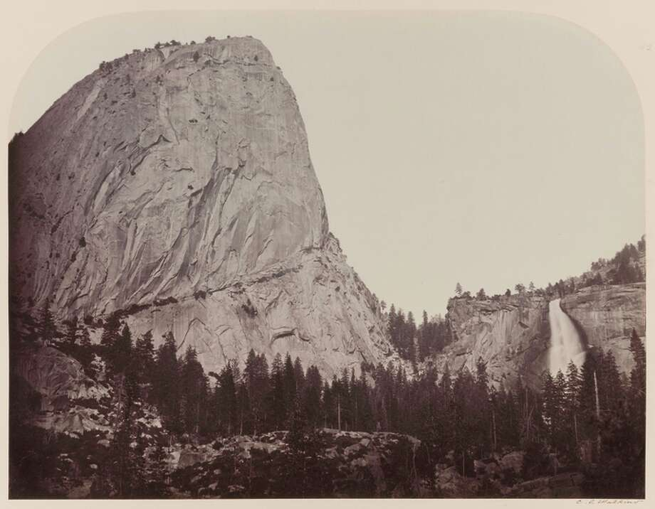 Mt. Broderick, Nevada Fall, 700 ft., Yo Semite. 1861 Photo: Don Ross