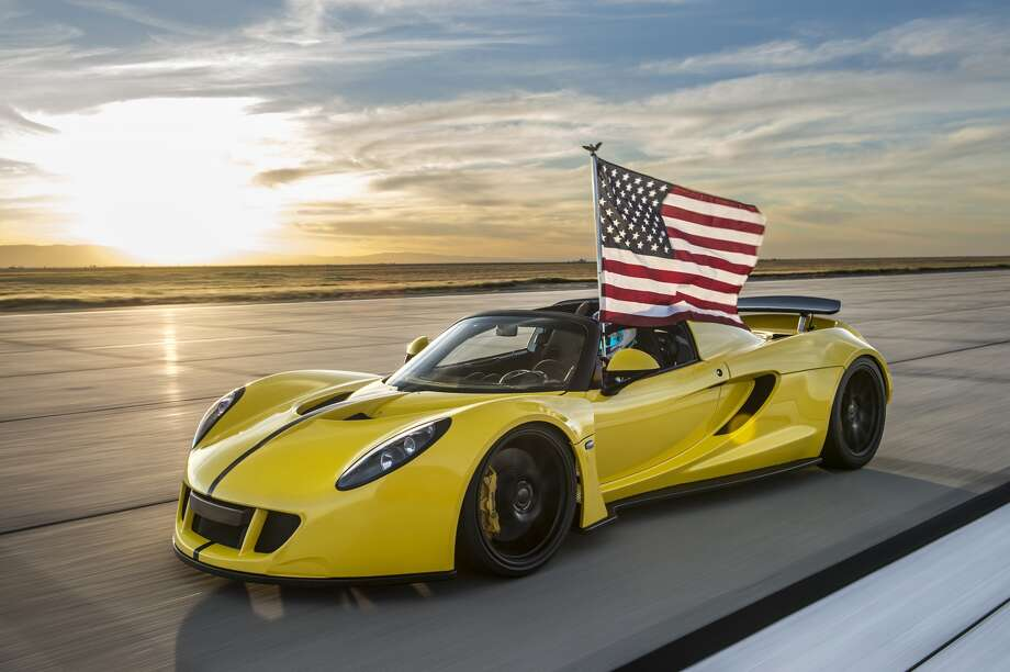 Hennessey'sVenom GT Spyder set a new world record in March as the world's fastest convertible, reaching 265 miles per hour.