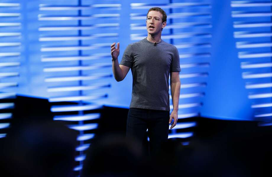 Facebook CEO Mark Zuckerberg during his keynote address to kick off Facebook's F8 developer conference at Fort Mason in San Francisco, California on Tues. April 12, 2016. Photo: Michael Macor, The Chronicle