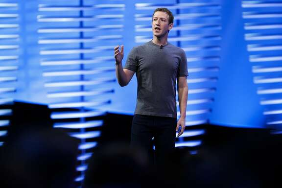 Facebook CEO Mark Zuckerberg during his keynote address to kick off Facebook's F8 developer conference at Fort Mason in San Francisco, California on Tues. April 12, 2016.