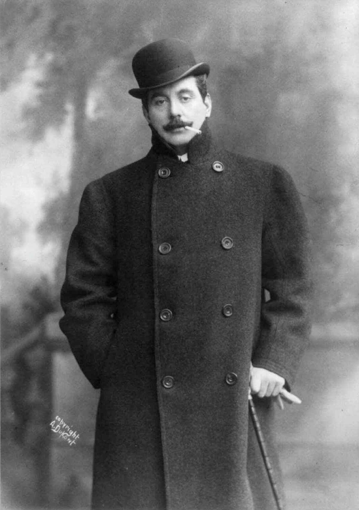 Italian composer Giacomo Puccini, in a 1908 handout photo. (A. Dupont/Library of Congress)