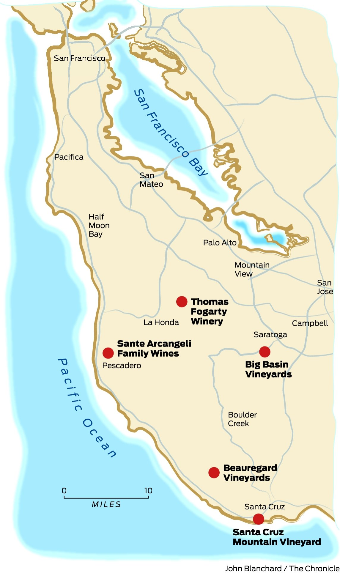 santa cruz wineries map Terroir Speaks For Itself In Santa Cruz Mountains Sfgate santa cruz wineries map