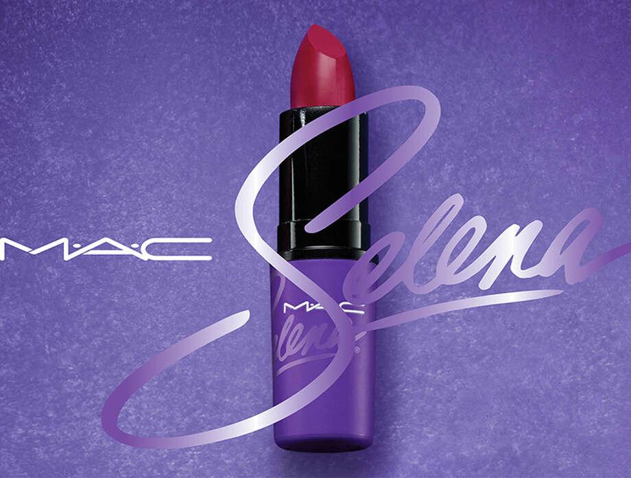 "MAC Selena's ""Como La Flor"" lipstick."