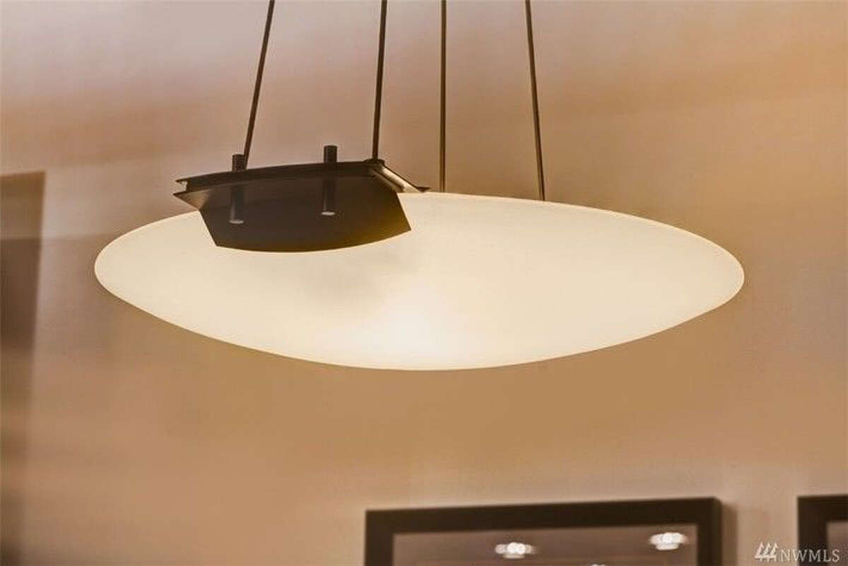 A light fixture in the home.