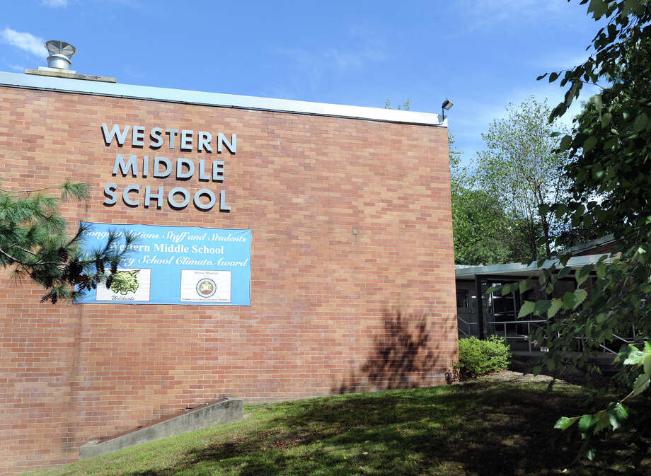 Western Middle School at 1 Western Junior Highway in the Byram section of Greenwich. Photo: Bob Luckey / File Photo / Greenwich Time