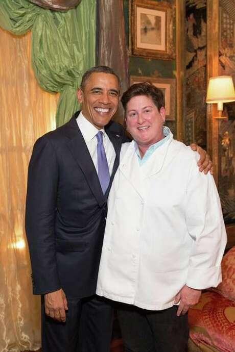 President Obama and Jennifer Johnson, in 2015