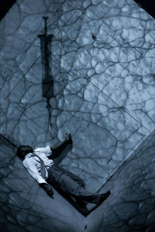 "Wellesley Robertson III plays Miles Davis discover ing drugs in Robert Lepage's ""Needles and Opium."" Photo: Nicola Frank Vachon"