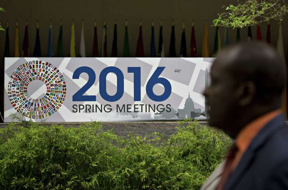 The spring meetings of the International Monetary Fund and World Bank are in Washington, D.C., this week as fears rise of another recession. Photo: Andrew Harrer, Stringer / © 2016 Bloomberg Finance LP