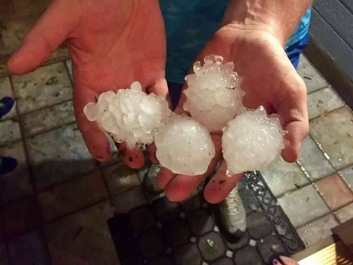 Hail in Helotes taken by Jennifer Maupin Paul