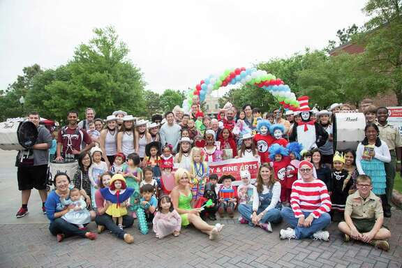 Fort Bend County Commissioner Andy Meyers will host the third annual Literary and Fine Arts Festival and Parade at Cinco Ranch Branch Library on April 16. The group above includes contestants and judges from an earlier festival.