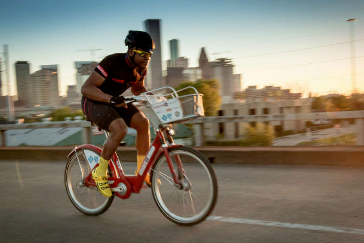 When thousands of 2016 BP MS 150 riders set out on the annual fundraiser ride on Saturday, April 16, Houstonian cycling enthusiast Doogie Roux will be saddling up a sturdy B-cycle bike from the popular bike-share program.
