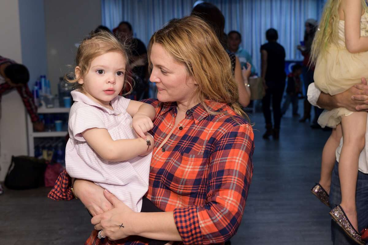 Drew on how her daughters Olive, 3, and Frankie, 2, make her who she is: