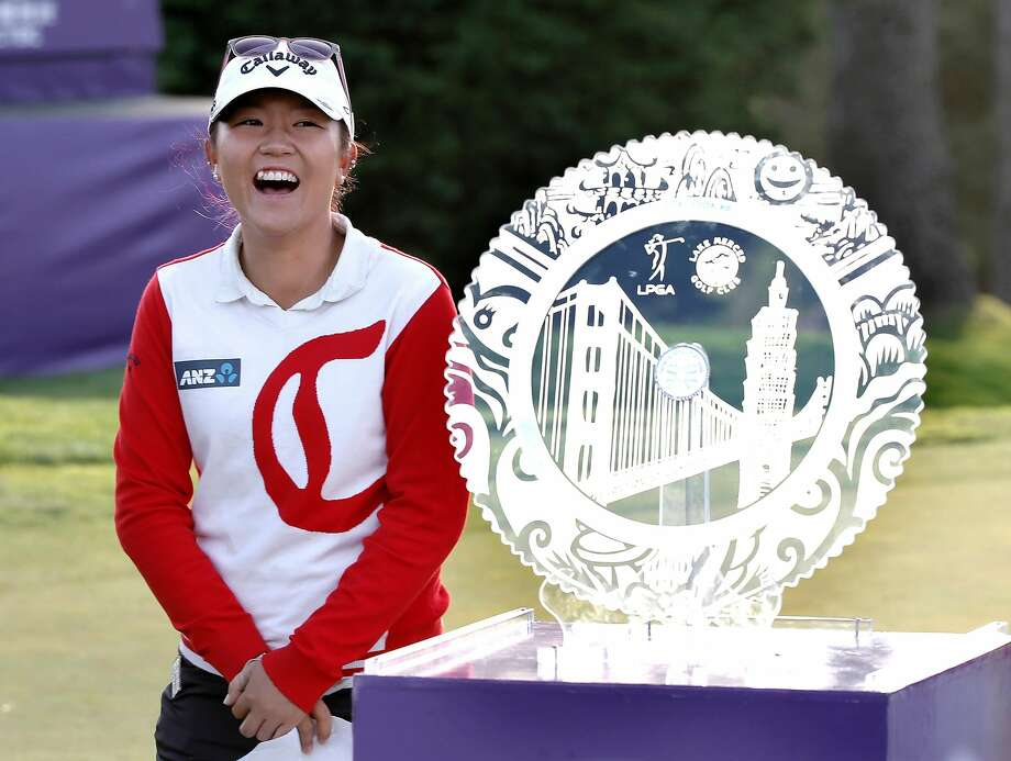 Lydia Ko wins the championship at the 2015 Swinging Skirts LPGA  Classic golf tournament at Lake Merced Golf Course in Daly City, Calif., on Sun. April 26, 2015. Photo: Michael Macor, The Chronicle