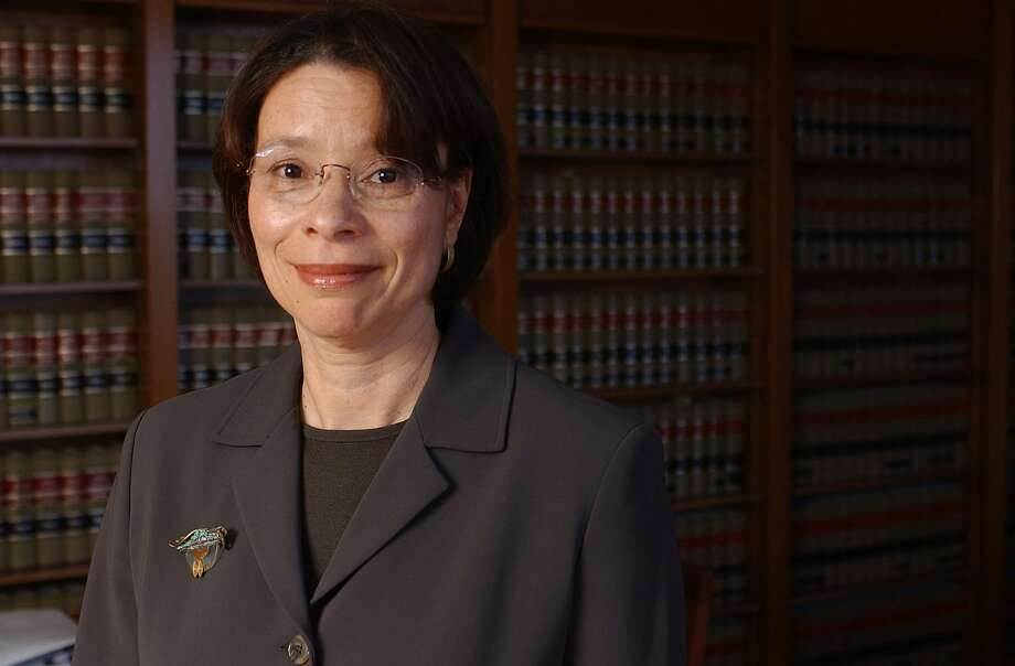 U.S. District Judge Phyllis Hamilton is shown in San Francisco, in this May 5, 2004, file photo. On Wednesday, April 13, 2016, Hamilton blocked a challenge to a new law requiring sex offenders to have special identification marks on their passports, saying the challenge was premature. (AP Photo/The Recorder, Jason Doiy, File) Photo: JASON DOIY, AP