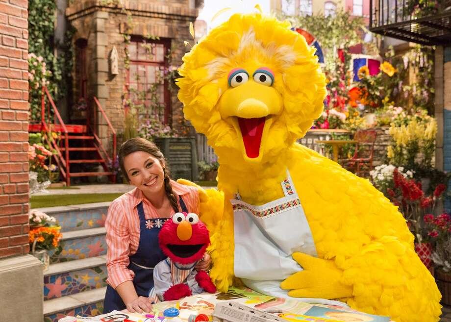 """Suki Lopez, playing """"Nina,"""" on Sesame Street. Photo: Courtesy Of Photographer Richard Termine And Sesame Workshop"""