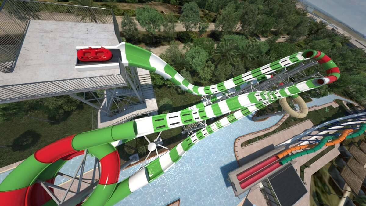 POV Ride: World's tallest water coaster at Schlitterbahn Waterpark Galveston Island (Digital Rendering) A 926-foot water coaster named MASSIV opens in June 2016 at Schlitterbahn Waterpark Galveston Island. The ride features a series of uphill water blasts and will be the world's tallest water coaster. Keep clicking to take a virtual ride on MASSIV at Schlitterbahn Waterpark Galveston Island ...
