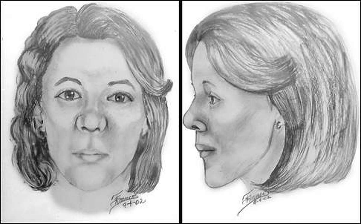 The Department of Public Safety released this sketch of a woman found dead in Refugio County in 1992.