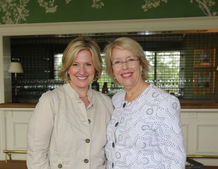 Brene Brown and Susan Cooley at UTHealth PARTNERS School of Nursing luncheon. Photo: Amber Elliott, Houston Chronicle / © 2016  Houston Chronicle