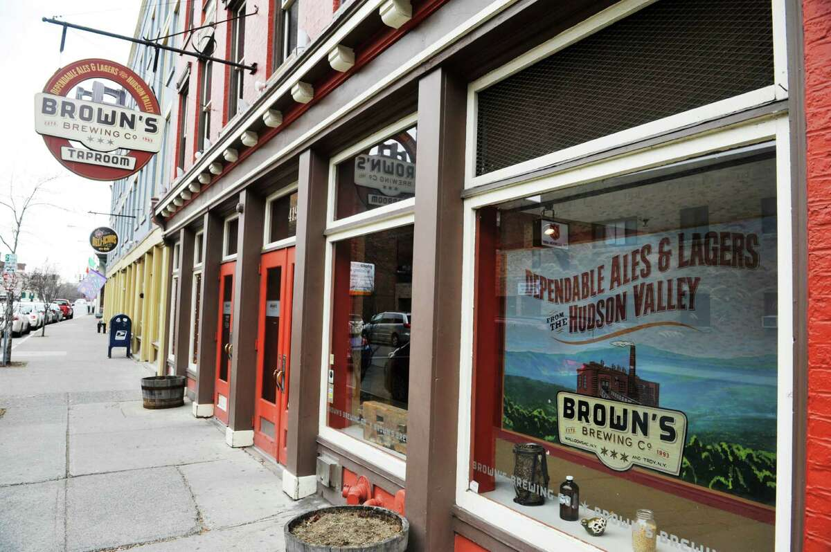 A view of the front of Brown's Brewing Company on Wednesday, March 23, 2016, in Troy, N.Y. (Paul Buckowski / Times Union)