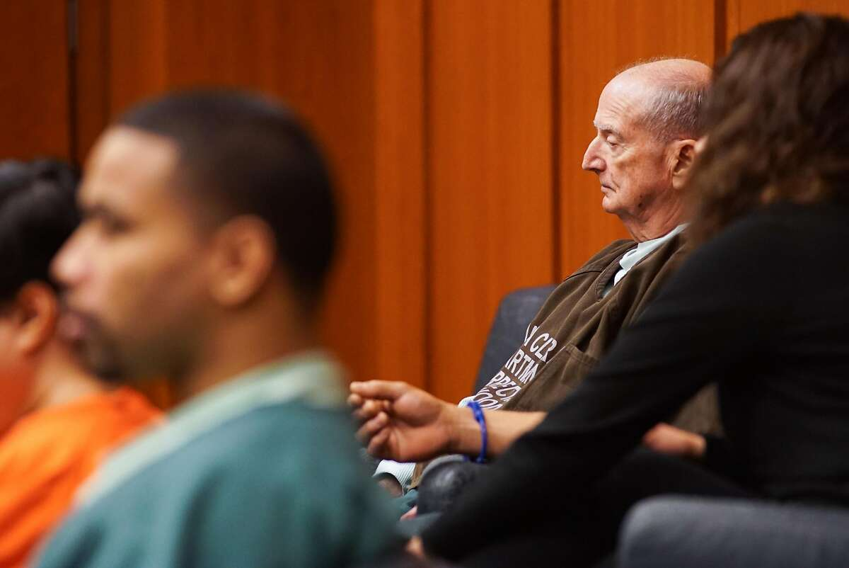 Ralph Flynn appears at the Santa Clara Superior Court in San Jose, Calif. on Wednesday, April 13, 2016. Ralph and Carolyn Flynn are accused of molesting their adopted son Denis.