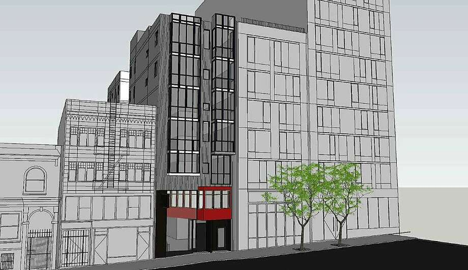 A rendering of the proposed seven-story building at 1525 Pine Street. Photo: D-Scheme Studio
