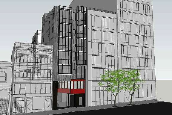 A rendering of the proposed seven-story building at 1525 Pine Street.