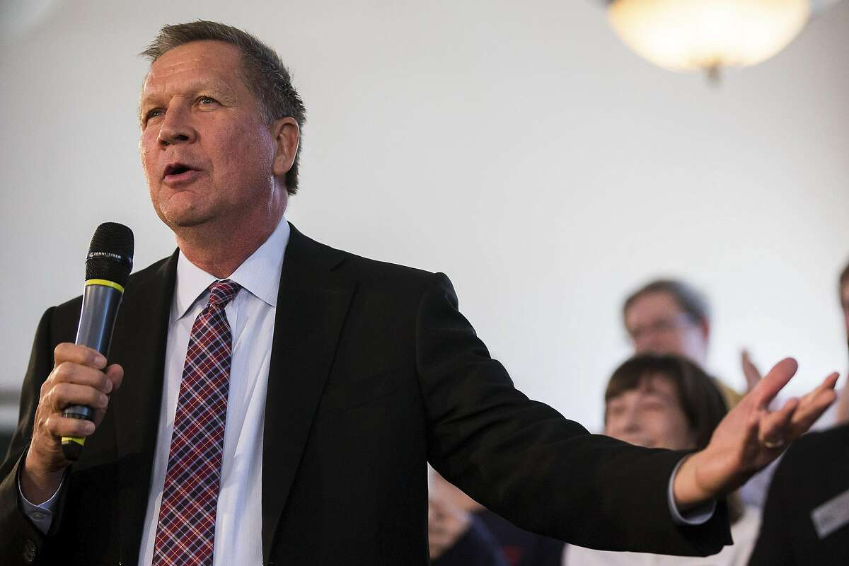 Gov. John Kasich of Ohio campaigns in Savage, Md., April 13, 2016. Maryland holds its primaries on April 26, along with four other eastern states. (Zach Gibson/The New York Times)
