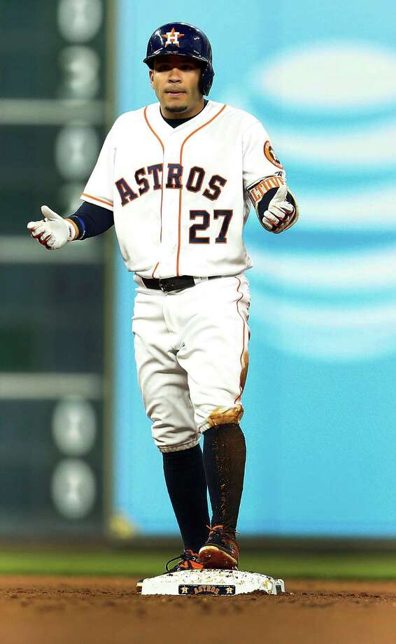 The good: Jose AltuveOn a scuffling offense, he was a bright spot in April, hitting a team-best .305 while adding an unexpected six homers and pacing the squad with nine stolen bases.  Photo: Karen Warren, Houston Chronicle / © 2016 Houston Chronicle