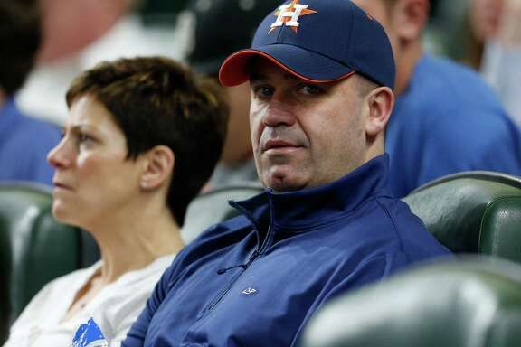 Houston Texans head coach Bill O'Brian in his seats at the Astros game during the first inning of an MLB game at Minute Maid Park, Wednesday, April 13, 2016, in Houston.