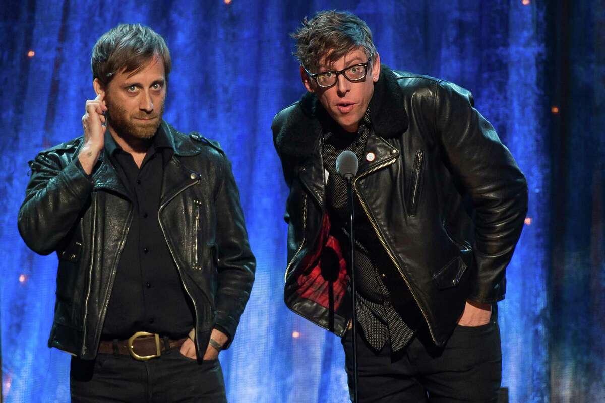 Dan Auerbach, left, and Patrick Carney of The Black Keys appear at the 31st Annual Rock and Roll Hall of Fame Induction Ceremony at the Barclays Center on Friday, April 8, 2016, in New York. (Photo by Charles Sykes/Invision/AP) ORG XMIT: NYCS106