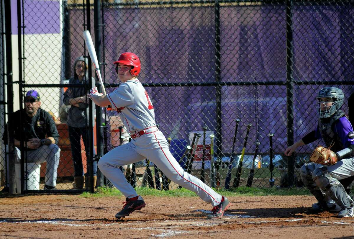 Westhill defeated Greenwich 18-6 in a varsity boys baseball game at Westhill High School in Stamford on April 13, 2016.