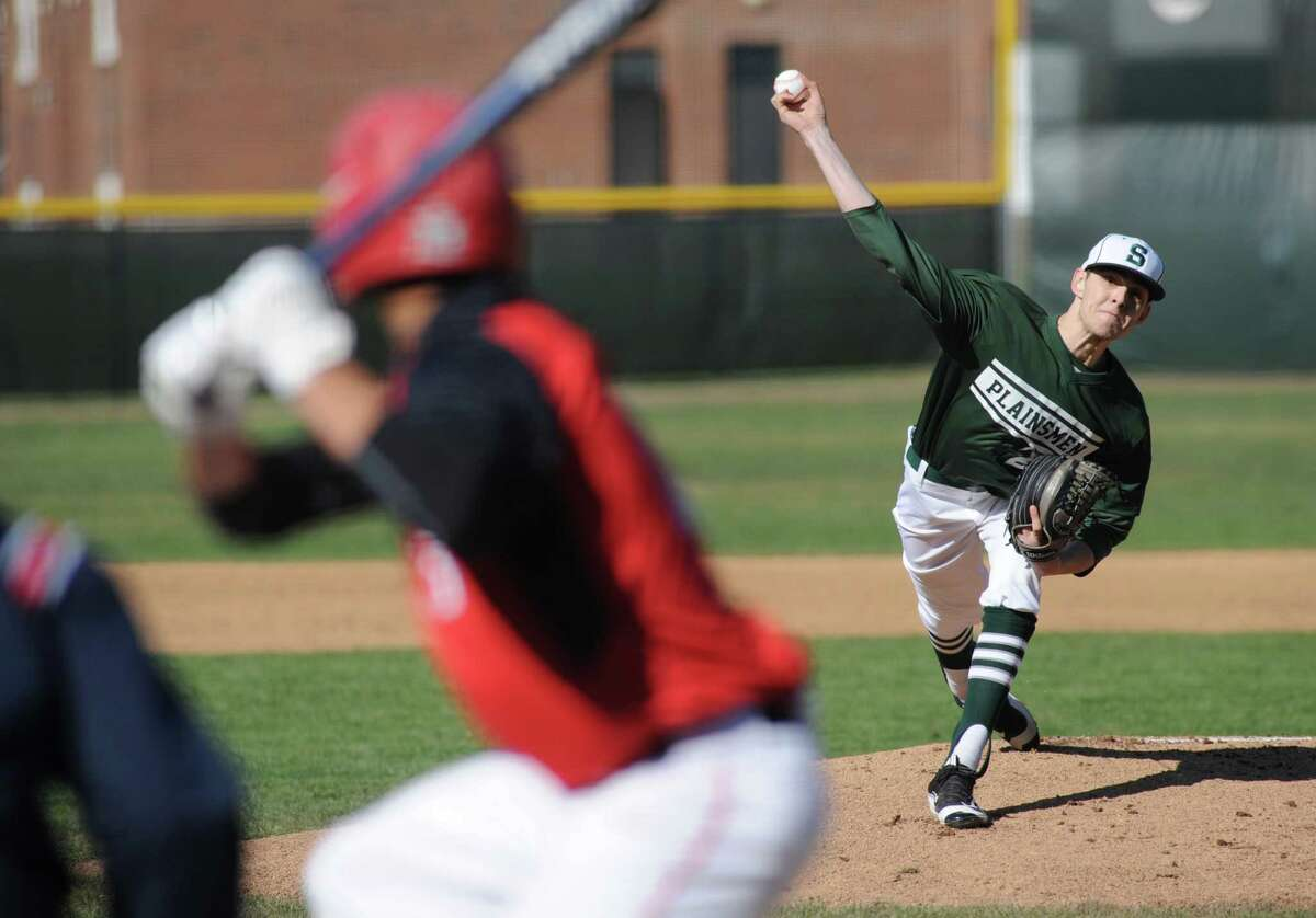 Shen's Ben Anderson gets the start for his injured brother Ian during their high school baseball game against Guilderland on Wednesday April 13, 2016 in Clifton Park , N.Y. (Michael P. Farrell/Times Union)