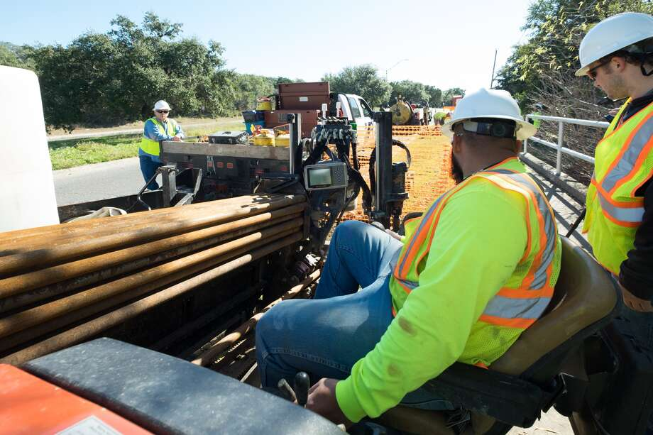 There's no timeline yet on when Google Fiber will start making connections to homes and businesses in San Antonio, but officials say that construction crews will be far more visible, trenching and working on utility poles. Photo: Google Fiber