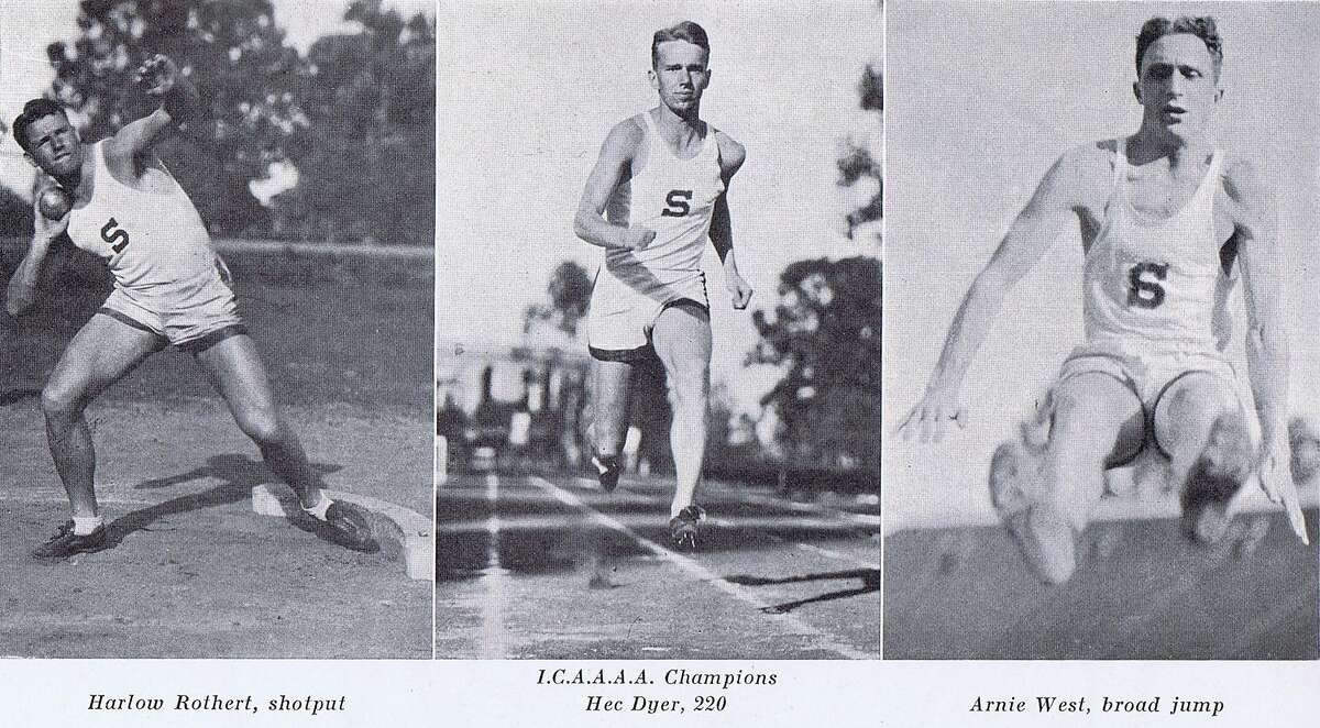 Track team, Stanford University, 1931 yearbook. From the collection of Bob Bragman