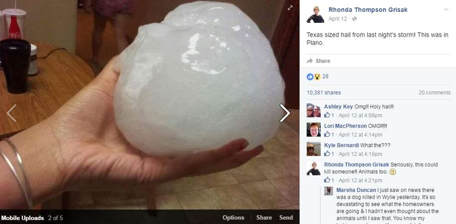"""A viral photo out of Plano, Texas claims the area saw """"Texas sized hail,"""" but experts have debunked it."""
