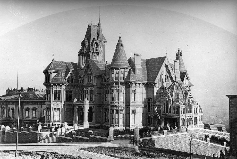 The Victorian fairy castle home of railroad baron Mark Hopkins was destroyed by the 1906 earthquake.