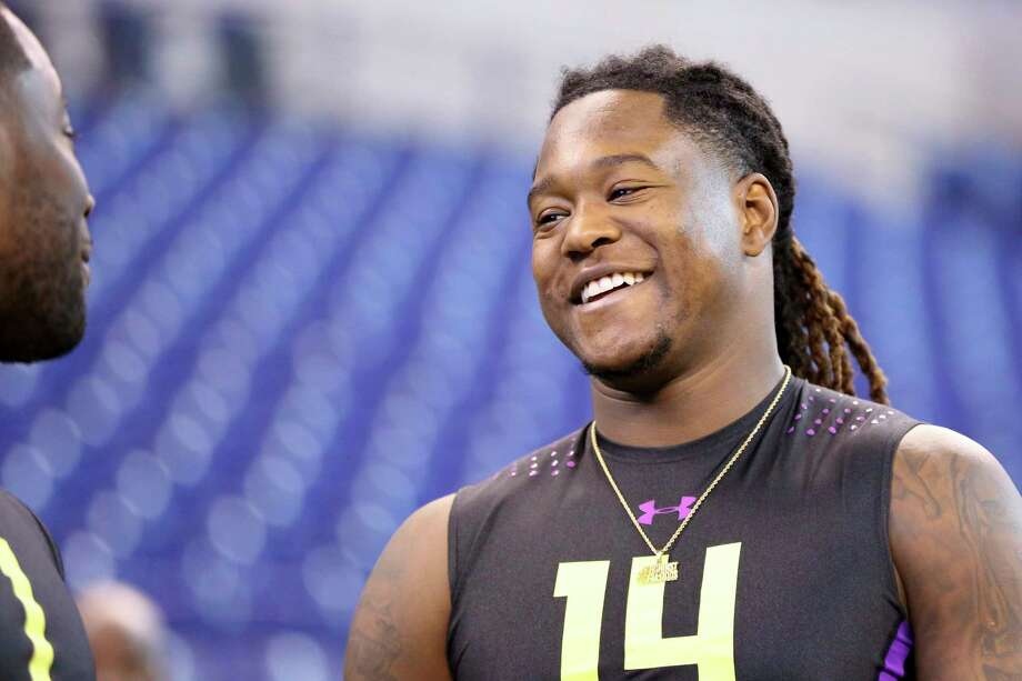 Central Florida linebacker Shaquem Griffin is seen at the 2018 NFL Scouting Combine on Sunday, March 4, 2018, in Indianapolis. (AP Photo/Gregory Payan) Photo: Gregory Payan, Associated Press / Copyright 2018 The Associated Press. All rights reserved.