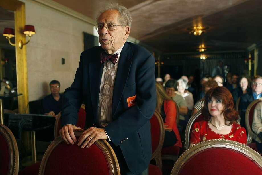 Robert Commanday, in 2014 Photo: Liz Hafalia, The Chronicle