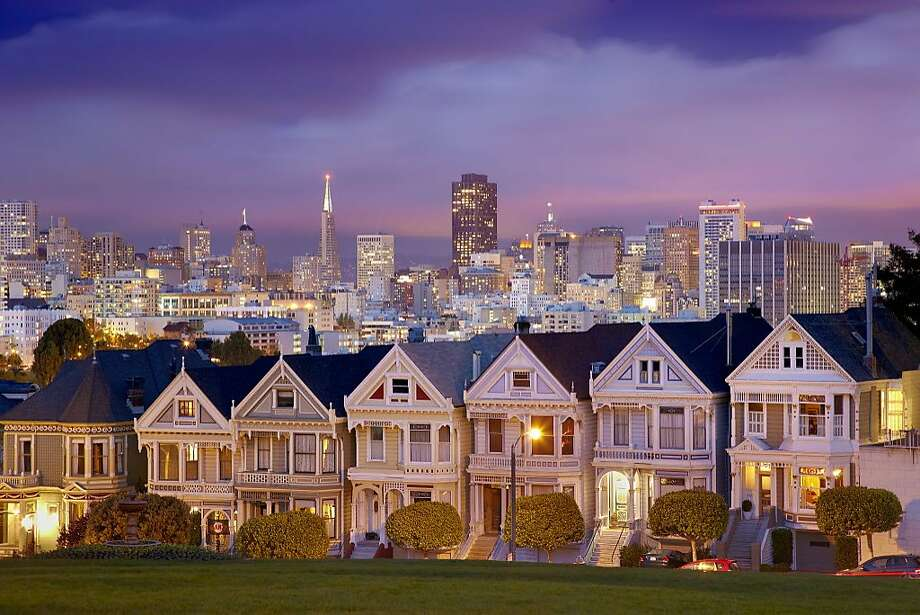 Alamo Square and the Victorian-style Painted Ladies. Photo: Patrick Smith, Getty Images