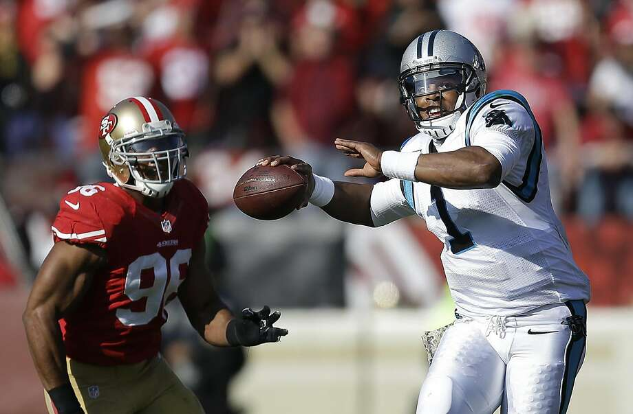 The 49ers will visit Cam Newton and the NFC champion Panthers in 2016. Photo: Ben Margot, Associated Press