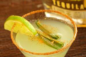 The jalapeño-spiked margarita from Aldaco's Mexican Cuisine. The restaurant's Dominion location is closing Sunday.