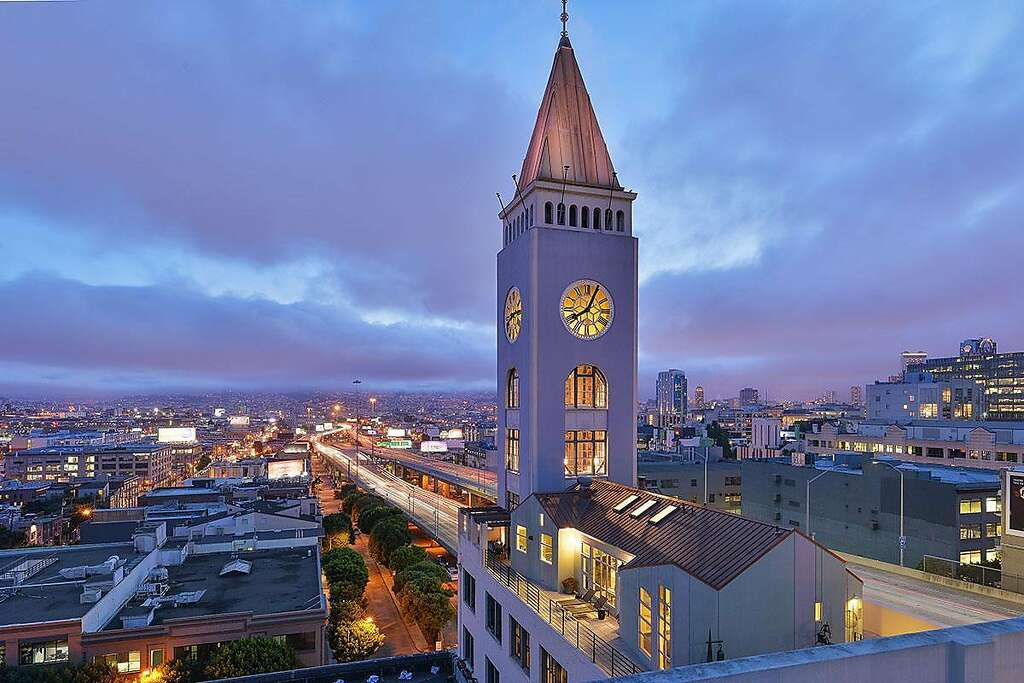 a penthouse in san francisco s historic clock tower goes on the